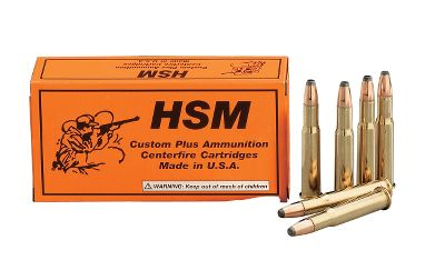 Hunting HSM ammunition is trusted by law-enforcement agencies and sportsmen across the nation. From varmints to deer to the African plains game and the largest North American game animals, HSM rifle ammo delivers reliable, accurate performance. Choose from 150-gr. or 170-gr. flat nose bullets. Per 20. Type: Centerfire Rifle. - $21.99