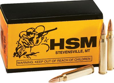 "Hunting you'll definitely get ""more bang for the buck"" when you buy these HSM-loaded .223 full metal jacket rounds in bulk. Buying in bulk is great for high-volume shooting of varmints and for plinking. HSM's loads are trusted by law enforcement agencies and shooting enthusiasts alike. These loads produce fast, accurate and low recoil. With this great deal on new-manufactured .223 ammo, you can afford to shoot all day long. Available:300 rounds - 1 Dry Box600 rounds - 2 Dry Boxes - $169.99"