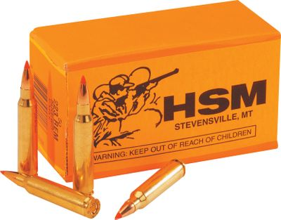 "Hunting The old saying ""more bang for the buck"" never rang more true than right now. With these great deals on .223 ammo, you can afford to shoot all day long. Loaded by HSM with 50-grain Hornady V-Max bullets, these .223 rounds are a varmint hunter's dream. Superb expansion and superior accuracy make this bullet a favorite. Factory remanufactured with extreme consistency. These loads shoot tight groups at high velocities. With every 250-round lot you'll receive a NEW Dry-Storage Box, a $14.99 value. These rugged polymer boxes have a lockable lid and a heavy-duty latch. Olive drab color. Measures 14""L x 8""W x 11-1/2""H.Available: 250 Rounds 1 Dry Box500 Rounds 2 Dry Boxes1,000 Rounds 4 Dry Boxes - $139.99"