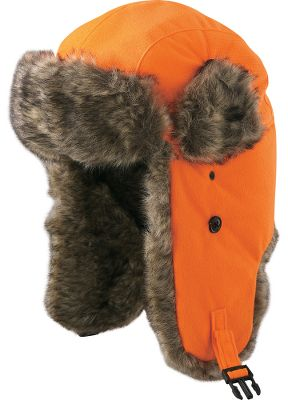 Hunting Big warmth for the harshest winter weather. This traditional-style trapper hat has a soft, quiet polyester tricot shell backed by a waterproof liner and 40-gram Thinsulate Insulation. Faux-fur-lined earflaps buckle together at chin or crown. Ear-hole covers button securely in both the up and down positions. Quilted polyester-lined crown. Imported.Sizes: M-XL.Camo patterns: Snow Camo, Oak Tree, Blaze Orange. - $17.99
