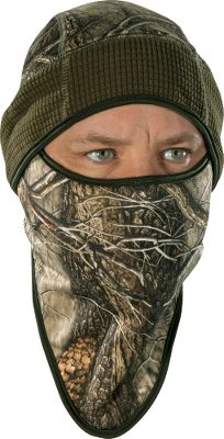 Hunting The hunting hat you'll want whenever cold weather threatens. The built-in facemask is made of form-fitting four-way stretch fleece. Cut for a compression fit, it traps warmth without bulk and tucks easily inside the hat. Silver-ionized thread reduces odors. Imported. Sizes: M/L, L/XL. Camo pattern: Oak Tree. - $7.88