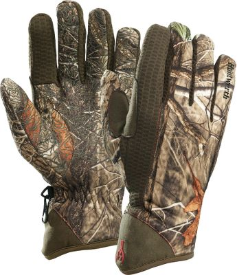 Hunting Four-way-compression fleece delivers superior warmth without bulk. Durable water-repellent finish with silicone palms provide a sure grip. High-pile fleece liners. Imported. Sizes: M-XL.Camo pattern: Oak Tree. - $14.88