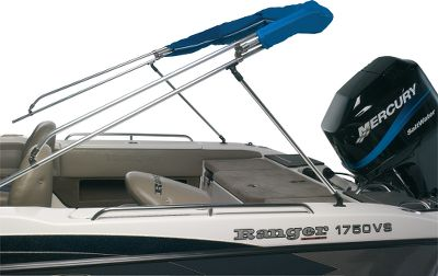 Motorsports Replace your bimini top's rear hold-down straps with this rear brace assembly and your top can be folded back, securely braced up and out of the way. Includes two cut-to-length 7/8 x 46 aluminum tubes, two deck mounts and all necessary fittings and hardware. - $79.99
