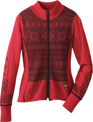 A sporty take on traditional Nordic styling. Versatile, slimming design flatters your figure whether you wear it over a turtleneck or tee. Comfortable wool blend offers protection from the cold, without sacrificing style. Ribbed cuffs. Imported.Size: S-2XL.Color: Red. - $59.88