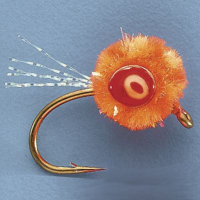 Flyfishing Morrish Thunder Eggs glimmer and reflect light like a real egg. The offset weighted eye adds depth and color and the sparkle tail is sure to attract fish. Per 3.Sizes: 6, 10.Colors: Orange, Pale Pink, Bright Pink. - $3.88