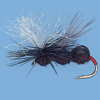 Flyfishing Deer hair segmented ant patterns not only look lifelike but float extremely well, even in rough water. Parachute makes them highly visible. Per 3.Sizes: 12, 14, 16. Color: (003)Black. - $3.88