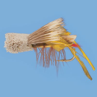 Flyfishing A standard hopper pattern for any fly box. The spun-hair head provides a realistic silhouette and excellent flotation. Per 2.Sizes: 6, 8, 10, 12. - $2.88
