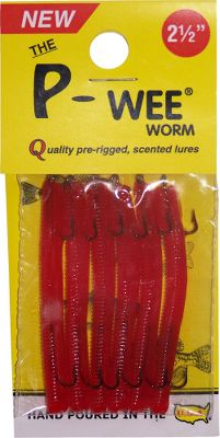 Fishing With a simple cast and slow retrieve, this lure creates a natural spiral rotation, enticing trout, crappies and bluegill to strike. A built-in trailer hook will catch those sluggish fish biting the tail. Made of durable, fade-resistant plastisol. The raspberry scent is proven to mask human smell left when touching the lure prior to use. Per 6. Made in USA. Size: 2-1/2. Colors: (005)Red, (007)Minnow, (035)Bubblegum. Color: Natural. - $7.49