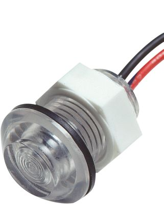 Motorsports Illuminate a livewell with this light. The white LED provides over 100,000 hours of service and won't generate heat. Shockproof and vibration proof, it will not corrode. Operates on a 9-16 volt DC system. Requires 11/16 hole. Size: 1 D x 1.25 L. Color: White. - $16.99