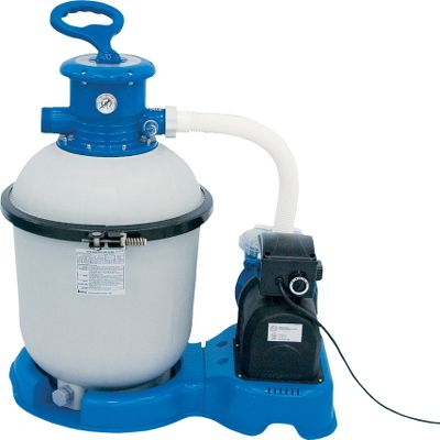 Camp and Hike Keep your pool clean and pristine with this low-cost maintenance option. Allows you to filter, backwash, rinse, recirculate, drain and close system. Ideally suited for above-ground pools 16 ft. or larger with 5,000-gallon capacity or more. Easy operation. Durable pump enclosure. Leaf basket. Pressure gauge. 2100 Gal Sand Filter. - $74.88