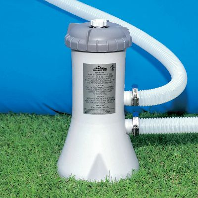Camp and Hike Hooks up to hose. Powerful pumps work with thick filtration cartridges for faster water circulation and improved filtration.Available: 530 gph Compatible with 8-ft. to 12-ft. pool models 1,000 gph Compatible with 15-ft. and 16-ft. pool models - $24.88