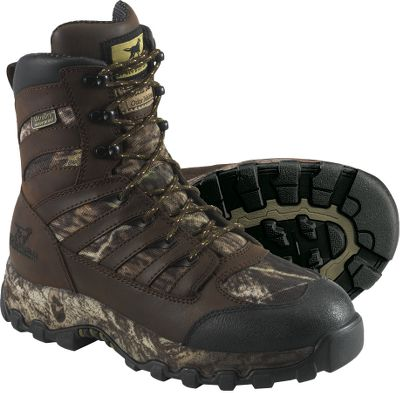 "Hunting Women who hunt with a passion will appreciate these super-lightweight LadyHawk boots, which are designed around a woman's foot for a superior fit, improved functionality and comfort. They feature low-volume heel cups and adjusted arch supports. Ultra-Dry 100% waterproof membranes cover the leather and nylon uppers for protection against rain, slush and snow. 1,000-gram Thinsulate Ultra Insulation is perfect for serious hunters who go late in the season when the temperature really drops down. ScentBan stops foot odors in their tracks. Camo-wrapped EVA midsoles for comfort and support. The Shadow Trek outsoles deliver excellent traction. Imported.Height: 7"". Average weight: 2.9 lbs./pair.Women's sizes: 6-11 B width. Half sizes to 10.Color: Mossy Oak Break-Up . - $79.88"