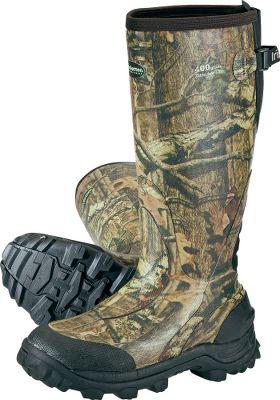 Hunting Durable, all-rubber construction with ExoFlex technology for smooth on and off, a great ankle-hugging fit and amazing long-distance walking comfort. Front-cleated Mud Claw rocker outsoles deliver superb traction. Warmth is assured by efficient Thinsulate Ultra Insulation. Cabelas exclusive. Imported.Height: 17. Average weight: 4 lbs. 15 oz./pair. Mens whole sizes: 8-13. Camo pattern: Mossy Oak Break-Up Infinity . - $159.99