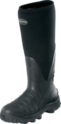 Hunting These 17-tall rubber boots are ideal for chores in wet and muddy conditions. Their aggressive Mud Claw self-cleaning outsoles enhance your footing in muck and mire. Stretch-fit rubber construction delivers waterproof performance in damp conditions. The ExoFlex Performance Fit System ensures easy-feeling comfort when youre working hard. Imported.Average weight: 4 lbs. 3 oz./pair.Mens whole sizes: 8-13.Color: Black. - $103.88