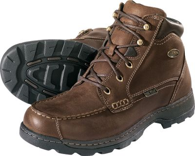 Irish Setter is known for making some of the finest field boots on the market. Now it has teamed with Cabela's to create these exclusive rugged Chukkas with our 100waterproof Dry-Plus protection. Features include waterproof, premium full-grain leather uppers, moisture-wicking lining and antique-brass hardware. EVA anatomic footbeds team with EVA midsole foot frames for cushioned support and stability. Multilug rubber outsoles deliver ground-gripping traction. Imported. Men's sizes: 8-14 D and EE widths. Half sizes to 12. Color: Brown. Size: 11. Color: Brown. Gender: Male. Age Group: Adult. Material: Leather. Type: Chukkas. - $114.88