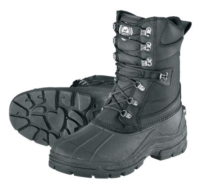 Performance-rich pac boot that wont let you down when the weather turns bitter. Genuine leather-trim uppers are double- and triple-stitched with nylon sidepanels and padded collars for rugged use. Removable 10mm felt-liner and 400-gram Thinsulate Ultra Insulation keep you warm in the coldest temperatures. Moisture-wicking UltraDry liners keep your feet dry. Large lace hooks for convenient use with gloved hands. TPR rubber bottoms and lug soles provide increase grip on slick surfaces. Integrated heel kick for easy on and off. Imported.Height: 11.Average Weight: 4.31 lbs./pair.Mens whole sizes: 8-14 medium width.Color: Black. Type: Pac Boots. Size: 10. Shoe Width: BLACK. Color: Medium. Size 10. Color Black. Width Medium. - $59.88