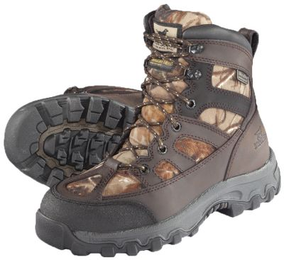 Hunting The perfect pair for the first-time hunter. Boasts 1,000-gram Thinsulate Ultra Insulation for warmth in cold conditions. Durable nylon and leather uppers feature Ultra Dry waterproof technology for dry comfort. ScentBan helps reduce odors. Rugged Shadow Trek outsoles. Imported.Height: 7.Average weight: 2.5 lbs./pair.Kids whole sizes: 1-6.Camo pattern: Mossy Oak Break-Up. - $69.88