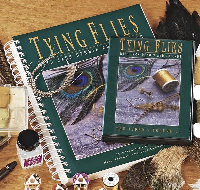 Fishing When you're starting to tie flies, turn to Jack Dennis. In this book and DVD, he shows you how to expertly tie flies every time. - $29.99