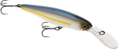 Fishing Ideal for reaching inactive bass in cold water, this longbill jerkbait is a necessity for early spring fishing trips. The lure produces an irresistible tight wobbling action for lifelike stop-and-go retrieves.Size: 3.2, 3/8 oz. Dives to 8 ft.Colors: (004)Chartreuse Shad, (006)Tennessee Shad, (613)Chartreuse, (912)Aurora Black. - $9.88