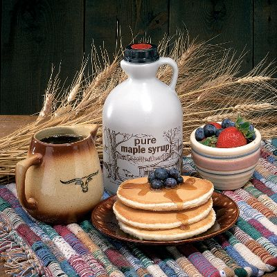 Fitness A luxury of nature-pure maple syrup. And, there's nothing better than our maple syrup on a pile of hot pancakes. No additives, colorings or preservatives. You get the unique, delicious flavor of maple, taken from the spring run of sap when deep snow still covers the landscape. Dark amber grade of syrup.Sizes: Pint, Quart, 12 Gallon. Color: Amber. Type: Pancake & Syrups. - $14.99