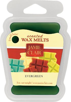 Jamie Clairs wonderfully scented Wax Melts fill the air with a fresh and inviting fragrance. They melt faster and release more fragrance than candles, and they can be reused. Hand-poured into their trays using the finest waxes, dyes and fragrances available. Each 2-oz. refill contains six wax squares that can be used in any tart burner or wax melter (not included).Available: Evergreen, Hot Apple Pie, Vanilla Cinnamon, Vanilla Bean, Citrus Splash. - $1.88