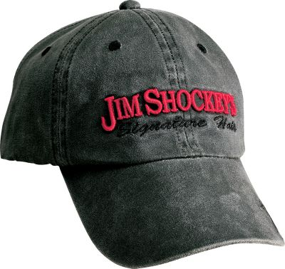 3-D embroidery of Jims signature and image. Crafted of weathered cotton/polyester. One size fits most. Imported. Colors: Black, Brown. Type: Caps. Size: One Size Fits Most. Size One Size Fits Most. Color Black. - $17.99