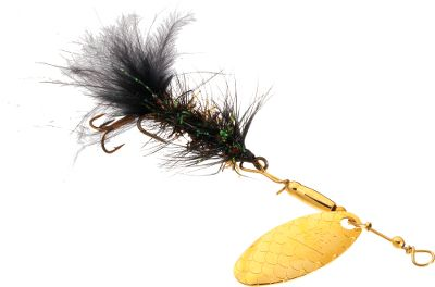 Flyfishing A best-selling lure thats a proven trout killer when fished on 4- to 6-lb. line using light or ultralight spincasting setups. The traditional Woolly Bugger fly design is updated with a three-bead willow blade to help it run deeper and pull harder while emitting fish-enticing flash and vibration. The body features highly reflective estaz material for added holographic temptation. Crystal flash is added to the tail for a pulsating flash trout cant resist. Per each. Size: No. 8. Colors: (003)Black, (004)Brown, (006)Olive, (096)Chartreuse. Color: Chartreuse. Type: InLine Spinners. - $2.99