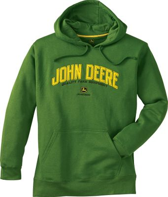 This chill-blocking, super-soft, appliqu-patterned pullover is designed specifically for the John Deere enthusiast. Crafted of a blend of 70/30 cotton/polyester fleece. Black pullover displays a John Deere Tractors appliqu. Green features a John Deere Quality Farm Equipment appliqu with embroidery. Machine washable. Imported. Sizes: M-2XL.Colors: Green, Black (not shown). - $21.99