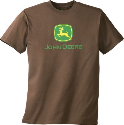 You can never have enough classic tee shirts, especially when it comes down to showing off your John Deere pride and loyalty. The 50/50 cotton/polyester is durable and machine washable for extended wear. Crew neckline. Screen-printed John Deere logo in center of chest. Imported.Sizes: M-2XL.Colors: Brown, Charcoal, Green. - $22.00