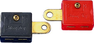 Motorsports These battery terminals provide safe, secure wiring between your battery and electronics. Both the positive and negative brass-plate terminals contain four separate terminals and spade lugs that make it a cinch to connect your power leads. For fresh and saltwater use. Per pair. Type: Battery Hardware. - $21.99