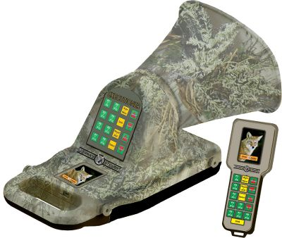 Camp and Hike Three-mode calling with 100 authentic Johnny Stewart sounds. In Standard Mode, the unit plays precisely as recorded. Sound Shuffle randomly shuffles sound segments in the original loop to avoid educating animals. The Custom Sequence Mode plays sounds in a sequence custom designed and programed by you. Boasts ergonomic remote with 16 sound presets and an LCD display that operates up to 300 yards. Plus, it operates in all audio formats, including 24 or 34 bit, and has 4GB of internal storage. High-quality speakers have adjustable amp power output of 9 watts or 18 watts for long-range calling. Integrated GPS tracking. Base unit has 16 sound presets, can play two sounds simultaneously and operates on eight AA or eight C batteries (not included). Remote is powered by a rechargeable lithium-ion battery (included). Type: Electronic Game Calls. - $539.88