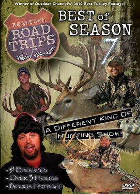 Hunting Realtree Road Trips 7 lets you ride along with Michael and his big-game hunting posse as they tour the continent in search of jaw-dropping trophies. Theres plenty of hunting action and loads of good times in every episode. Realtree Road Trips 8 is a must-see. Ride along with the Road Trips crew as it travels from Georgia to Arizona. Along the way, youll watch as they take numerous trophy elk, antelope, deer and turkeys. You wont want to miss Jeremy Williams finishing out a turkey grand slam that he completed in one season. Available: Realtree Road Trips 7 120 minutes. DVD. Realtree Road Trips 8 180 minutes. DVD. - $7.88