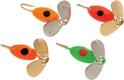 Fishing An assortment of jigs in colors that have proved to be deadly on panfish and trout. Jig them alone or tip them with small minnows or wax worms. Per 4. Hook size: 10. Color: Assorted. Color: Assorted. Gender: Male. Age Group: Adult. - $4.99