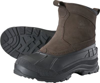Great for farmyard chores or quick trips to town, these handy slip-on pacs feature waterproof suede uppers and flexible rubber shells. Fully seam sealed to keep moisture from reaching the inside of the boots. Wicking liners move perspiration away from your feet. Padded collars. 200-gram Thinsulate Insulation. Aggressive Snowgrip rubber outsoles. Imported.Height: 8.5.Average weight: 2.98 lbs./pair.Mens whole sizes: 8-13.Color: Dark Brown. Type: Pac Boots. Size: 10. Shoe Width: D. Color: Dark Brown. Size 10. Color Dark Brown. - $49.88