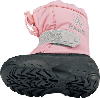"Guns and Military Super-soft, removable 8mm Zylex Performance liners wick away moisture and reflect body heat to ensure feet stay toasty all day. The durable 600-denier nylon uppers take the wear and tear of wintertime fun and are secured with adjustable elastic drawstrings to keep snow out. Fully waterproof Igloo molded bottoms. Deep-treaded outsoles ensure kids stay on their feet for those important first steps. Adjustable web straps across the fronts for easy on and off.Order next size up if wearing with heavy socks.Height: 6-1/2"".Infant sizes: 5-10.Colors: Navy, Light Pink, Black. - $19.99"