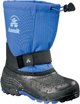The removable Zylex liners deliver reliable warmth. Durable nylon uppers resist water and snow, while moisture-wicking linings keep feet dry. Waterproof synthetic rubber bottoms are flexible and light. Adjustable midfoot Velcro straps ensure a custom fit. Bungee-cord collars keep snow out. Imported. Order next size up if wearing with heavy socks. Ht: 9-1/2. Avg. wt: 1.52 lbs./pair. Kids whole sizes: 1-7. Colors: Vivid Viola, Red, Black. Height: 9-1/2. Average weight: 1.52 lbs./pair. Size: 4. Color: Red. Gender: Female. Age Group: Kids. Material: Nylon. - $54.99