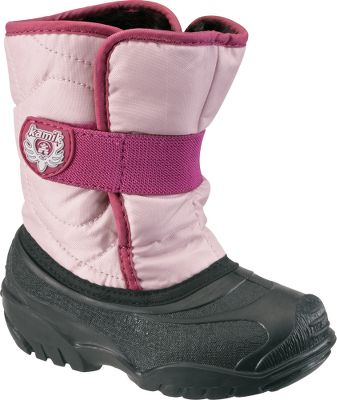Guns and Military Quilted nylon uppers combine with the flexible rubber shells for waterproof performance. Fixed faux-fur linings add an extra measure of warmth. Easy-fit, extra-wide gaiters allow quick on and off. Elastic Velcro straps adjust for a secure fit. Igloo rubber outsoles deliver traction on snow and ice. Made in USA and Imported.Height: 6.5. Average weight: .95 lbs./pair.Sizes: 5-10.Colors: Viola, Navy, Pink. - $29.88