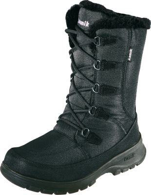 Winter-taming boots at an affordable price. Waterproof Icebug nylon uppers combine with faux-fur snow collars and gusset tongues to lock out snow and cold. Kamik comfort footbeds deliver support and cushioning. City rubber outsoles maximize cold-weather traction. Includes two sets of laces. Imported.Height: 10.Average weight: 2.3 lbs./pair.Womens whole sizes: 6-10.Colors: Black, Charcoal. - $59.88