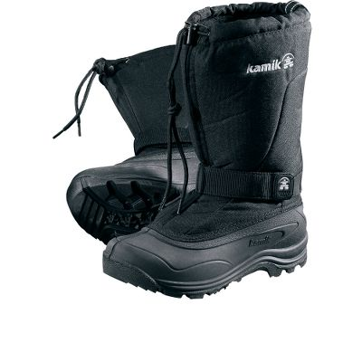 When winter rears its ugly head, you want these boots on. They are rated to keep you comfortable to -40F. Snow collars keep snow out and PULSE RubberHE outsoles ensure traction on ice. Removable Thermal Guard moisture-wicking linings allow moisture to escape. Features include Duration 600 nylon uppers, midfoot adjustable Velcro straps that ensure a snug fit and waterproof, flexible RubberHE shells. Imported. Average weight: 2.5 lbs./per pair.Height: 12. Womens whole sizes: 6-11.Color: Black. - $59.88