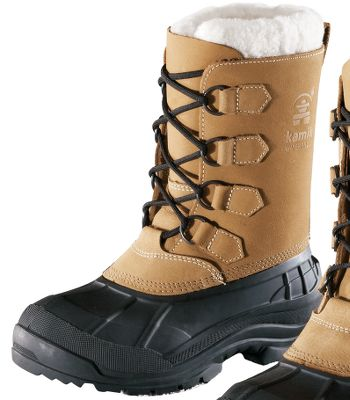 Protection from winters worst for the entire family. Waterproof nubuck uppers are seam-sealed and have synthetic-shearling snow collars. Removable 9mm Zylextra liners with moisture-wicking linings. Snowgrip rubber outsoles ensure traction. Rustproof D-ring lacing system. Imported. Women's whole sizes: 6-10.Color: Tan. Type: Pac Boots. Size: 6. Shoe Width: B. Color: Tan. Size 6. Color Tan. - $69.88