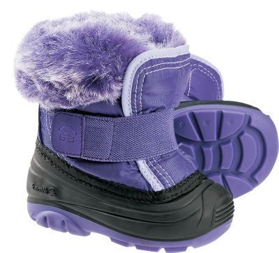 Fun faux-fur snow collars add adorable flare and wick away moisture, while waterproof Icebug nylon uppers with removable 6mm Thermal Guard linings keep feet dry and warm. Other highlights include Snowpaw RubberHE outsoles for protection you can count on and extra-wide gaiters with Velcro straps so getting them on and off is a snap. Imported. Ht:5.75. Avg. wt: .8 lbs./pair. Kids whole sizes: 5-10. Color: Purple, Pink. Size: 7. Color: Purple. Gender: Female. Age Group: Kids. Material: Nylon. Type: Boots. - $37.59