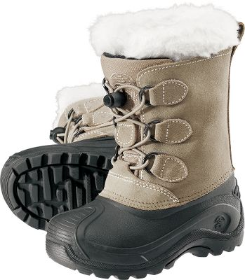 Playful, protective and brimming with cuteness, the Snowdasher gets tough on weather with waterproof, seam-sealed suede leather uppers and 6mm Zylex linings that keep little feet dry. Faux-shearling collars with gusseted tongues and one-pull bungee lacing systems provide a solid fit in a flash. Pioneer rubber soles are both flexible and hard-gripping on slick surfaces. Imported.Ht:9.Avg. wt: 1.64 lbs./pair.Kids whole sizes: 1-6.Color: Putty. - $49.88