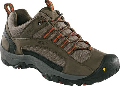 Camp and Hike Take on all trails in these lightweight, versatile hikers. Superior performance and an affordable price combine to make them a value not to overlook. Oiled nubuck overlays in the uppers ensure the shoes retain their natural shape. Durable trail mesh upper inserts reduce weight while adding support. Shock-absorbing EVA midsoles put a spring in your step. Removable footbeds enhance arch support and cushioning. Rubber lug outsoles deliver excellent traction on a wide variety of surfaces for stability on everything from loose gravel to boulders. Imported. Average weight: 1.8 lbs./pair.Mens sizes: 8-14 medium width. Half sizes to 12.Colors: Black Olive, Dark Shadow. - $49.88