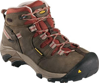 Camp and Hike Ultralight, hiker-inspired boots deliver exceptional waterproof comfort from the outdoor construction site to the indoor factory. Waterproof, breathable KEEN.DRY breathable membranes combined with waterproof nubuck uppers deliver exceptional wet-weather comfort. Dri-Lex linings wick moisture away from feet to keep them dry. Removable metatomical dual-density EVA footbeds and compression-molded EVA midsoles offer cushioned, shock-absorbing comfort. Torsion-stability ESS shanks are flexible, yet supportive. Contoured heel locks for feet-cradling comfort. Reflecting webbing for extra roadside safety. Asymmetrical steel toes for a roomy, protective fit. Oil- and slip-resistant nonmarking rubber outsoles. Meets ANSI Z41 PT99 standards for electrical hazard protection from open circuits. Imported. Ht.: 5-1/2. Avg. wt.: 2.8 lbs./pair. Womens sizes: 6-10 medium width. Half sizes to 10. Color: Black Olive, Gray. Size: 9.5. Color: Gray. Gender: Female. Age Group: Adult. Type: Boots. - $149.99