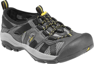 Keen packs the McKenzie with high-performance features. Secure Foot lace-capture system offers a snug, comfortable fit. Aegis Microbe Shield-treated hydrophobic mesh linings fight odor-causing microorganisms. Nonmarking rubber outsoles with multidirectional lugs and siping molded for excellent wet-and-dry, all-terrain traction. Foot-cushioning, anatomically-correct, EVA footbeds, and long-lasting EVA midsoles for enduring support. Washable synthetic/polyester-web uppers. Imported. Mens sizes: 8-14 medium width. Half sizes to 12. Colors: Black/Gargoyle. Type: Water Shoes. Size: Medium. Shoe Width: BLACK/GARGOYLE. Color: 8. Size 8. Color Black/Gargoyle. Width Medium. - $49.88