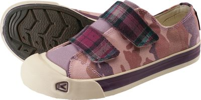 A retro sneaker-style look combined with repurposed fabric scrap uppers to promote conservation. Pleasing natural canvas linings. Removable molded footbeds and nonmarking natural-rubber outsoles add cushioned comfort. Imported. Women's sizes: 6-10. Half sizes to 10.Color: Floral Rose. - $39.88