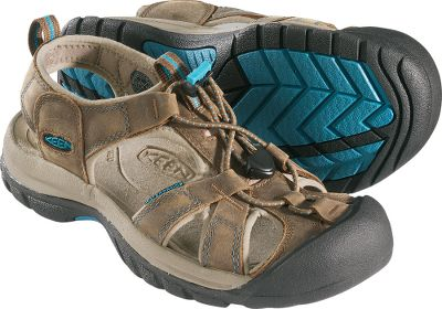 Entertainment Open-air comfort and sure-footed durability. The uppers are constructed of rugged waterproof nubuck and feature a secure-fit, lace-capture system. Both the moisture-wicking mesh linings and shock-absorbing EVA footbeds are treated with Aegis Microbe Shield to prevent odors. Nonmarking rubber outsoles have multi-directional lug pattern with razor siping for traction on wet and dry surfaces. Imported. Womens sizes: 6-10 medium width. Half sizes to 10. Color: Dark Earth. Size: 6.5. Color: Brown. Gender: Female. Age Group: Adult. Type: Sandals. - $70.88