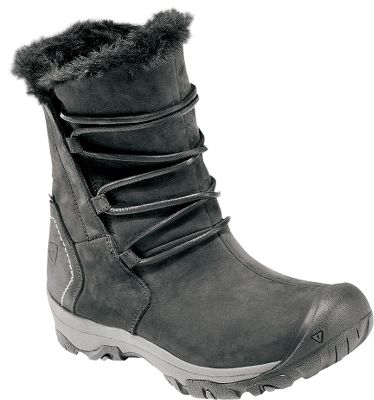 Step into winters worst with confidence and style. Features beautiful and waterproof nubuck uppers enhanced with faux-fur linings. Winters wet and chill are foiled by 200-gram Keen Warm insulation and Keen Dry waterproof and breathable membranes. Removable metatomical EVA footbeds and compression-molded EVA midsoles supply foot-pleasing comfort. The nonmarking and durable rubber outsoles supply winter-weather traction with 4mm multidirectional lugs. Imported.Womens sizes. Type: Winter Boots. Size: 6 1/2. Shoe Width: BLACK. Size 6 1/2. Color Black. - $99.88