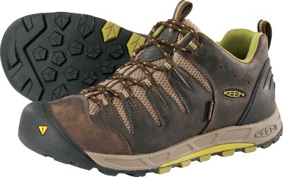 Camp and Hike Stay light on your feet during on- and off-trail excursions. Waterproof nubuck uppers and Keen.Dry waterproof, breathable membranes block out external moisture. Removable metatomical EVA footbeds with the added cushioned comfort of Keen.Zorb absorb shock and rebound into the next step. TPU stability shanks give your feet the security needed to tackle a wide range of terrain types. Dual-density compression-molded EVAmidsoles. Nonmarking rubber outsoles for traction. Imported. Average weight: 2.2 lbs./pair. Mens sizes: 7-15 medium width. Half sizes to 12. Colors: Slate Black, Black Olive. Size: 8. Color: Slate Black. Gender: Male. Age Group: Adult. Type: Hikers. - $79.88