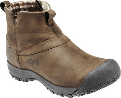 Lose the laces and go with boots that are ready for winter adventures in a flash. Lined with flannel and Keen.Dry waterproof, breathable membranes, the waterproof nubuck uppers have zip-up cuffs for easy on and off. Removable Keen.Cush memory-foam footbeds mold to your feet and cushion every step. Nonmarking rubber outsoles deliver versatile traction. Imported.Mens sizes: 7-15 medium width. Half sizes to 12.Color: Deep Chestnut. - $89.88